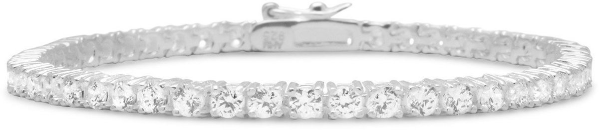 "7"" 3mm (1/8"") CZ Tennis Bracelet 925 Sterling Silver"