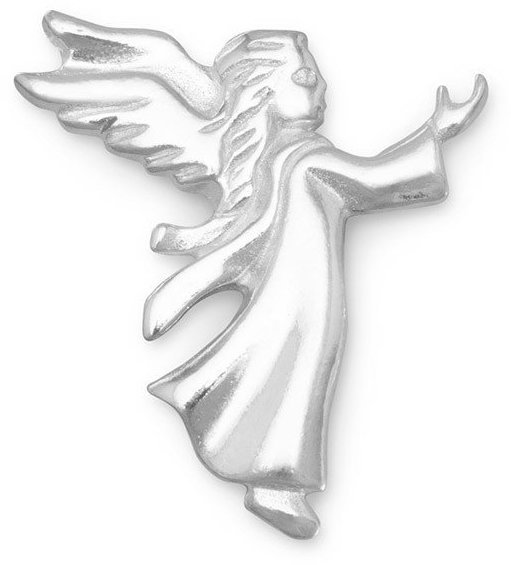 Small Angel Lapel Pin 925 Sterling Silver