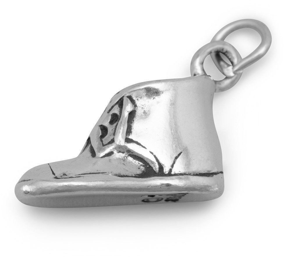 Baby Shoe Charm 925 Sterling Silver