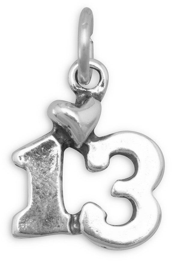13 Charm 925 Sterling Silver