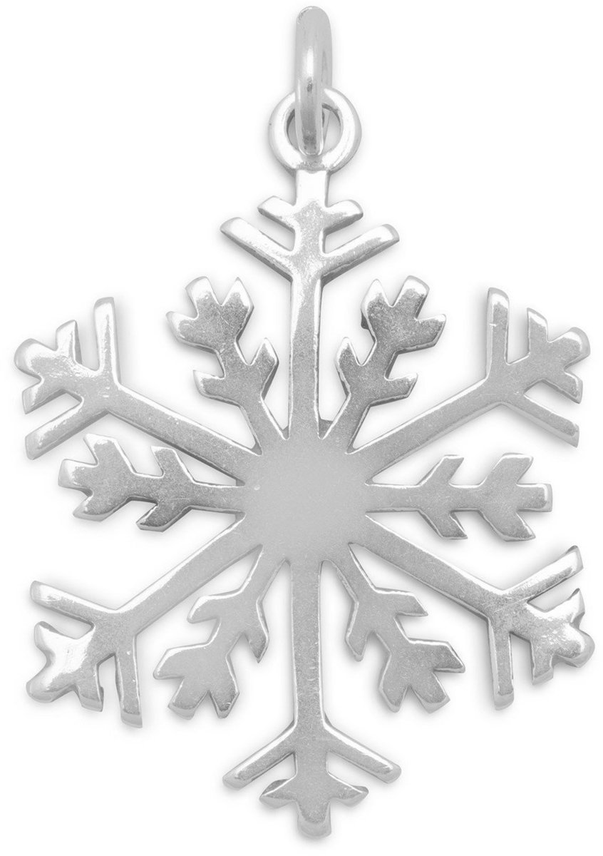 Snowflake Pendant 925 Sterling Silver
