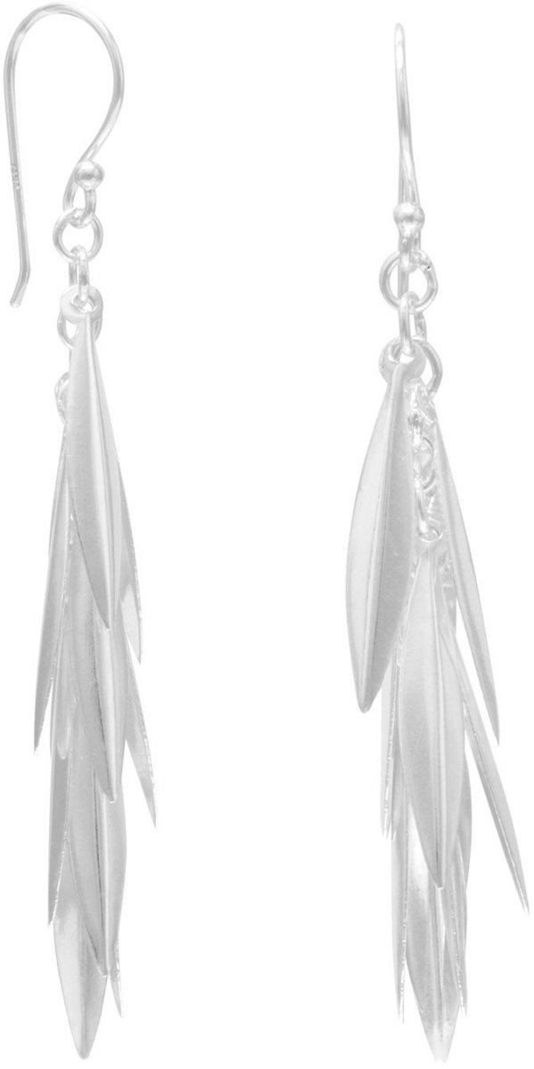 Marquise Cluster Drop Earrings 925 Sterling Silver