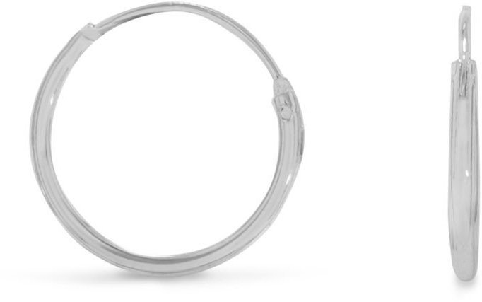 "16mm (5/8"") Endless Hoop Earrings 925 Sterling Silver"
