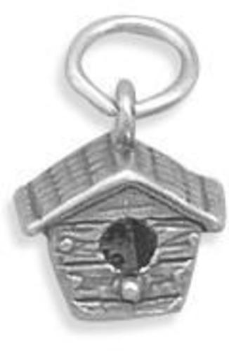 Birdhouse Charm 925 Sterling Silver