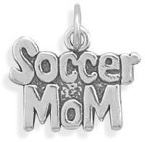 Soccer Mom Charm 925 Sterling Silver