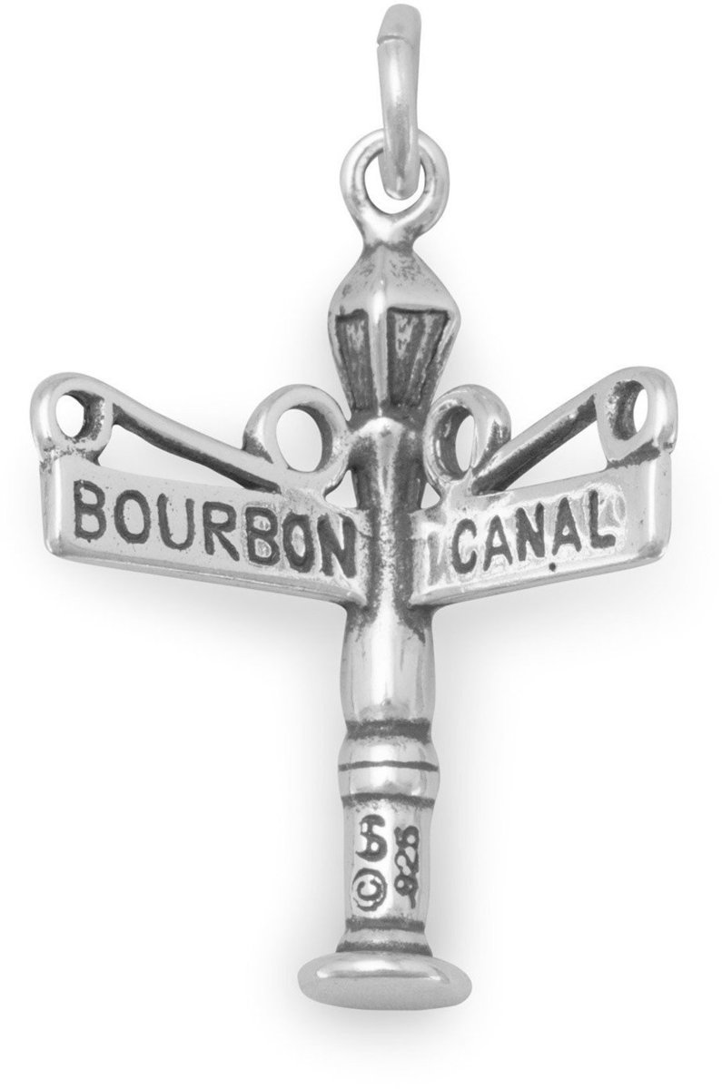Bourbon/Canal Street Charm 925 Sterling Silver
