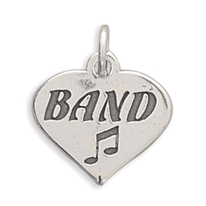 "(C) ""BAND"" in Heart Charm 925 Sterling Silver - LIMITED STOCK"