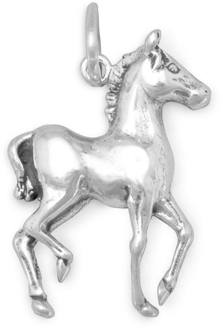 Prancing Horse Charm 925 Sterling Silver