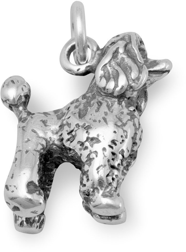 Poodle Charm 925 Sterling Silver