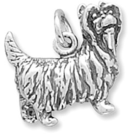 Yorkshire Terrier Charm 925 Sterling Silver