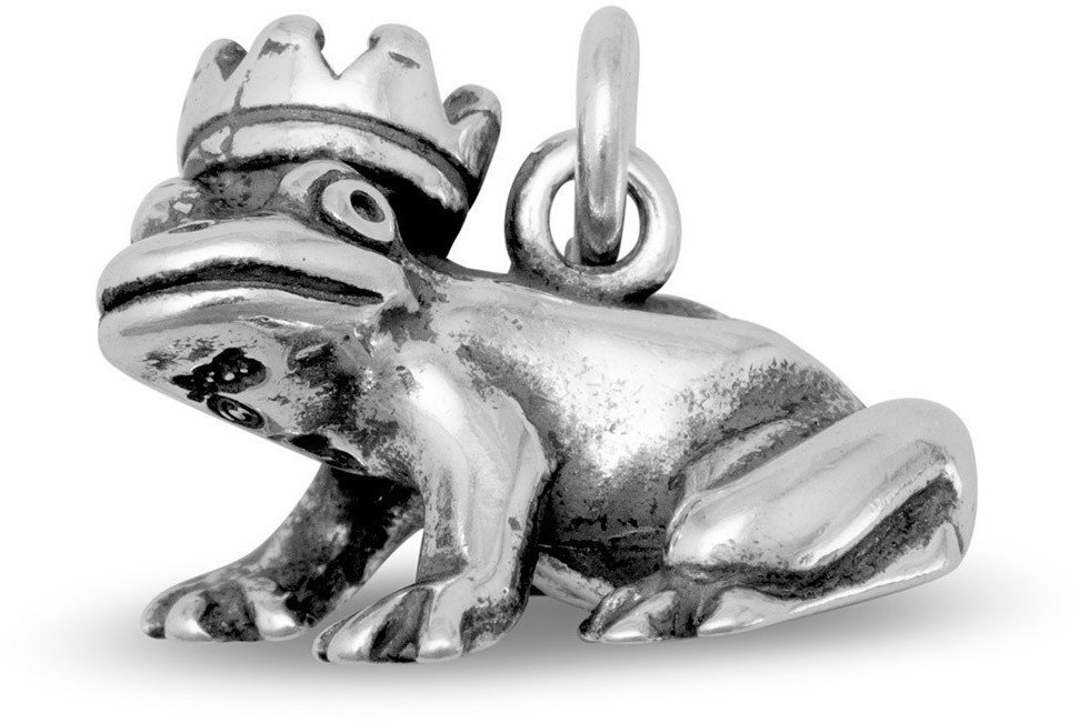 Frog Prince Charm 925 Sterling Silver