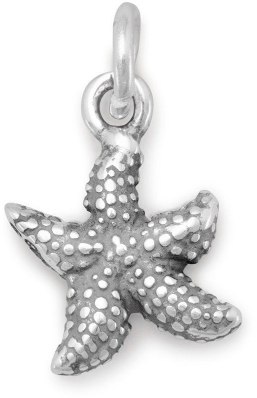 Small Starfish Charm 925 Sterling Silver