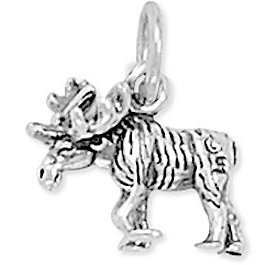 Moose Charm 925 Sterling Silver