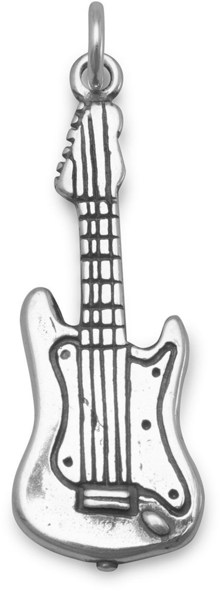 Electric Guitar Charm 925 Sterling Silver