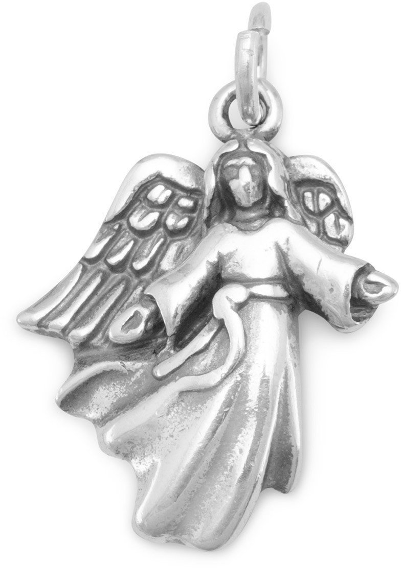 Angel with Open Arms Charm 925 Sterling Silver