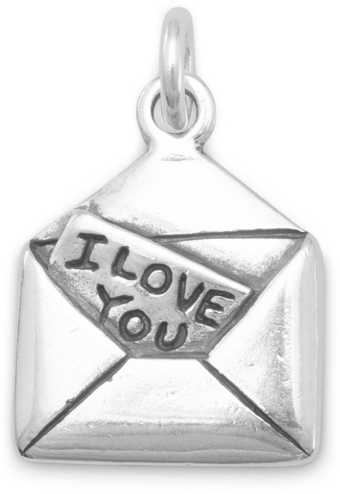 I Love You Letter Charm 925 Sterling Silver
