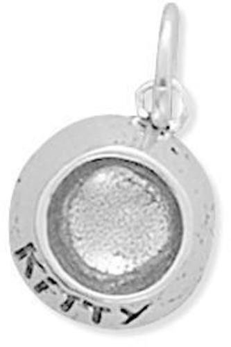 Kitty Food Dish Charm 925 Sterling Silver