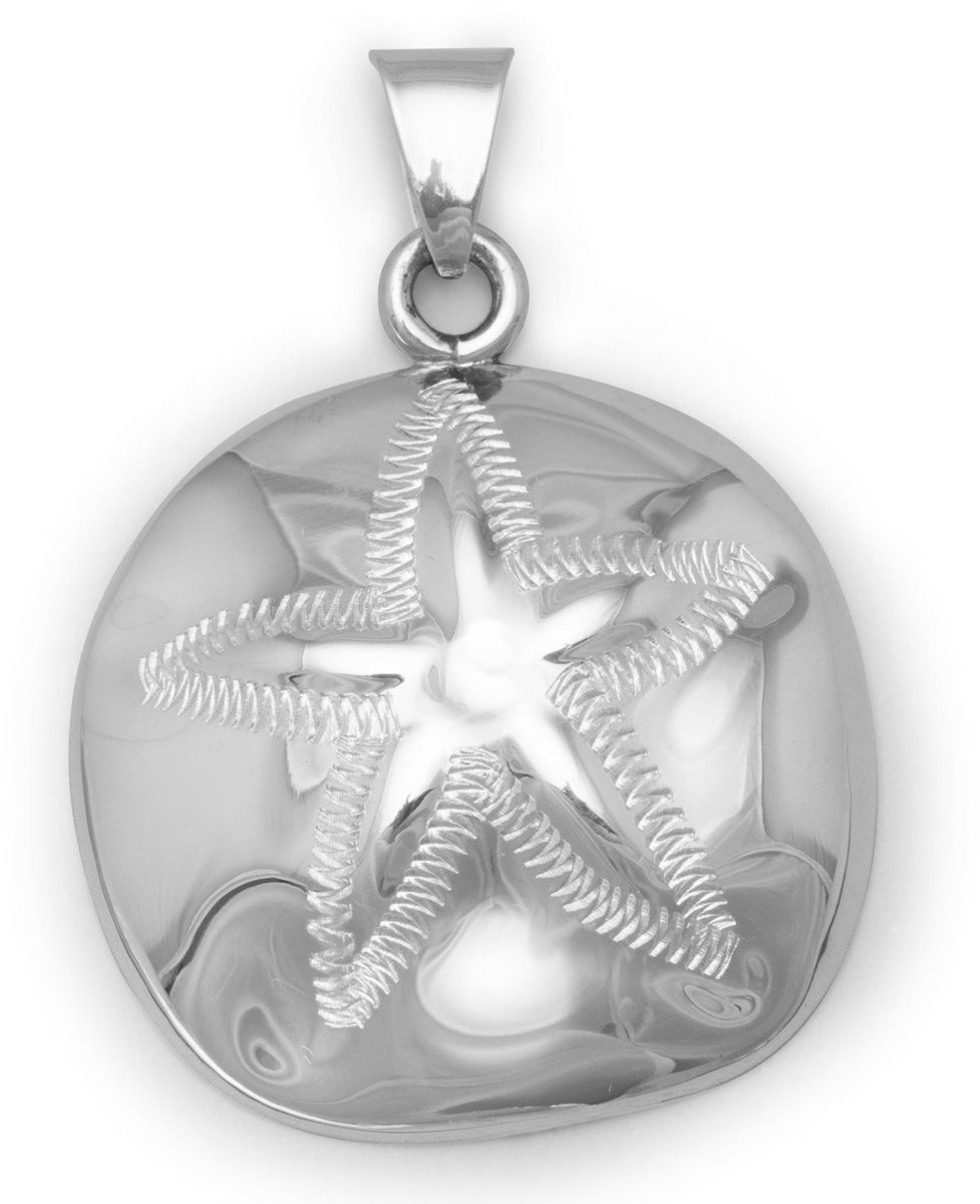 Large Sand Dollar Pendant 925 Sterling Silver