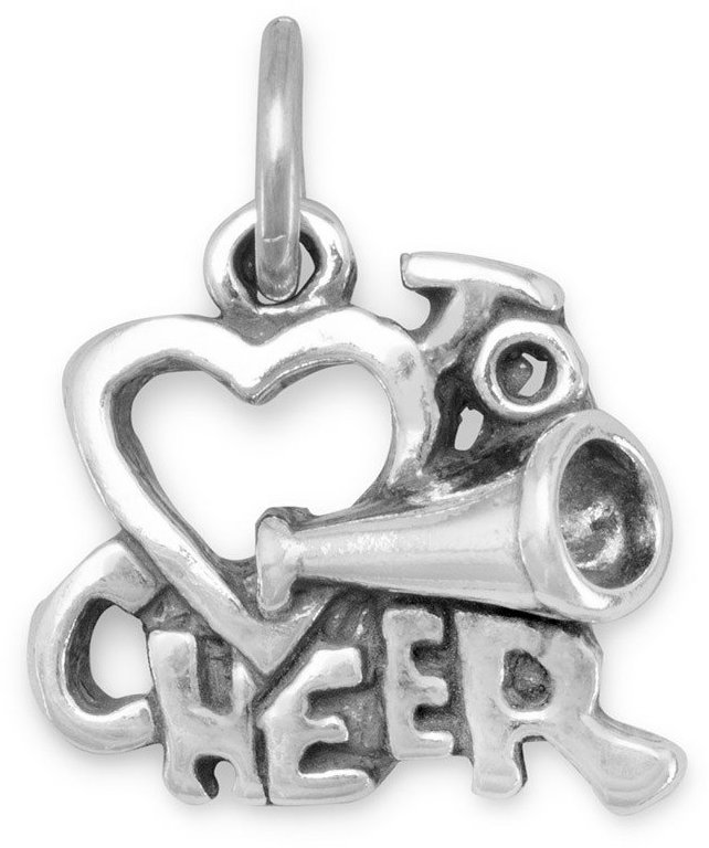 Love to Cheer Charm 925 Sterling Silver