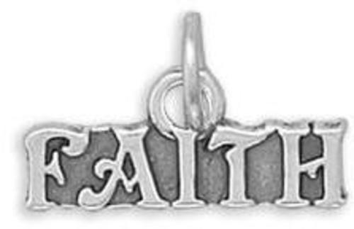 Faith Charm 925 Sterling Silver