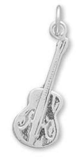 Guitar Charm 925 Sterling Silver