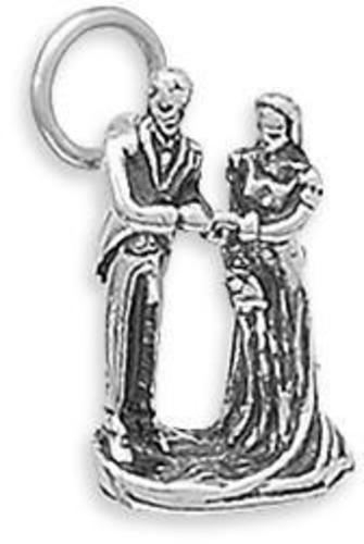 Bride and Groom Charm 925 Sterling Silver