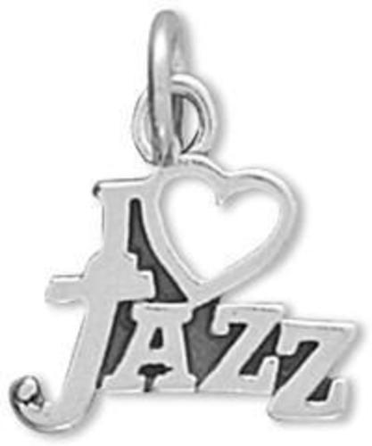 I Love Jazz Charm 925 Sterling Silver