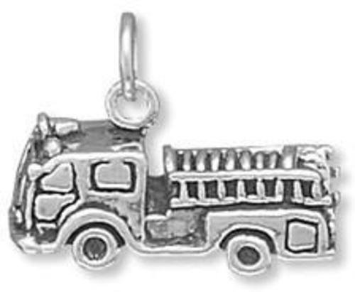 Fire Truck Charm 925 Sterling Silver