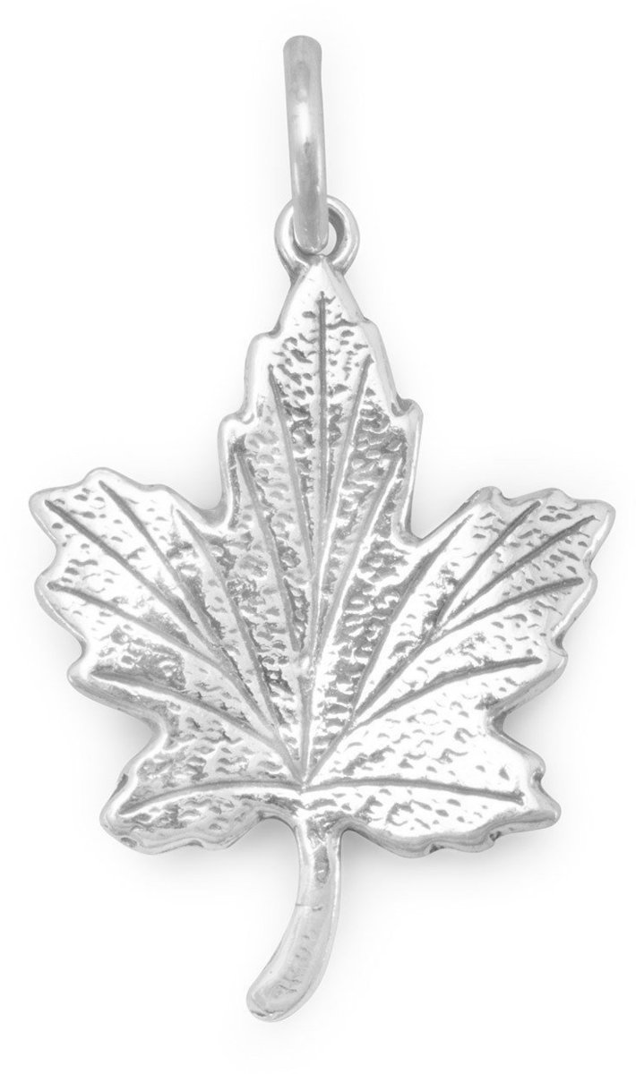 Maple Leaf Charm 925 Sterling Silver