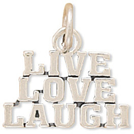 Live Love Laugh Charm 925 Sterling Silver