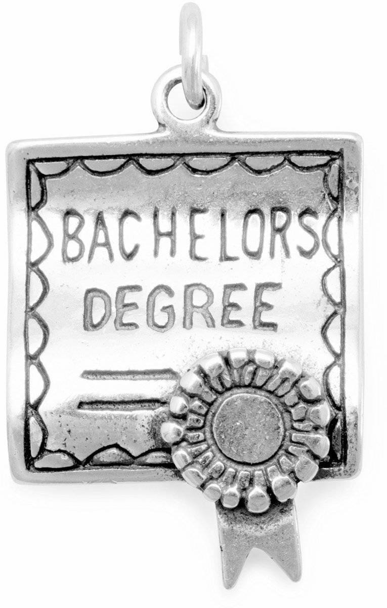 Bachelors Degree Charm 925 Sterling Silver