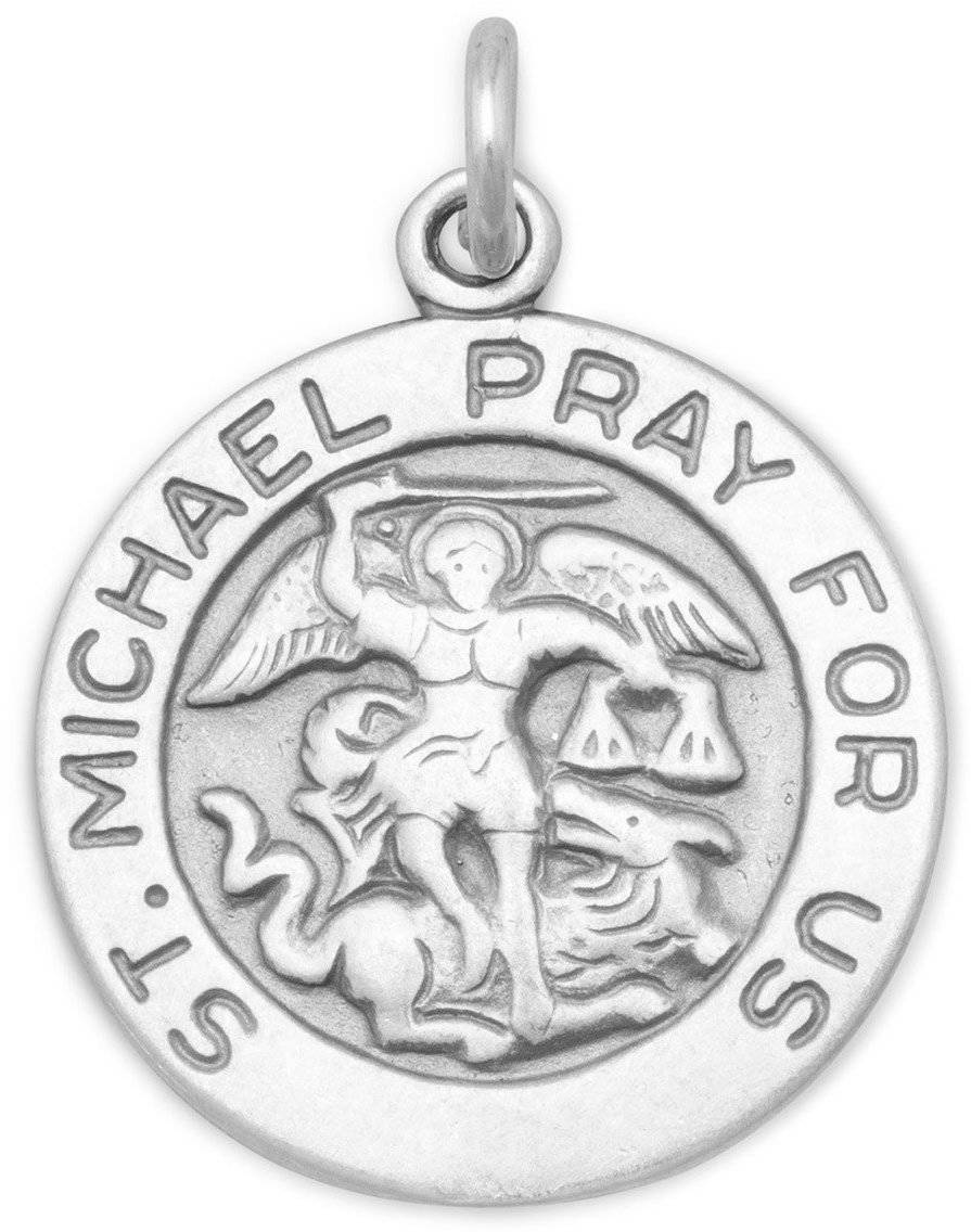 St. Michael Charm 925 Sterling Silver