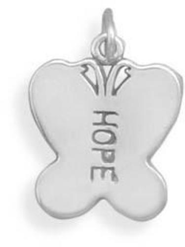 HOPE Butterfly Charm 925 Sterling Silver