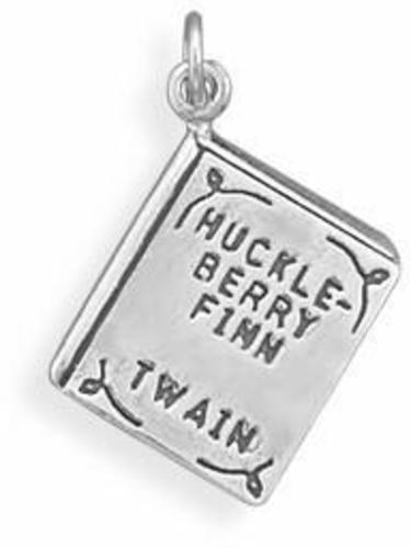 Huckleberry Finn Book Charm 925 Sterling Silver