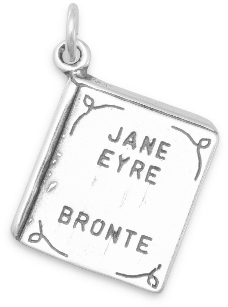 Jane Eyre Book Charm 925 Sterling Silver