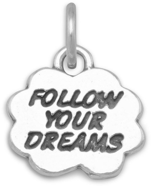 Follow Your Dreams Charm 925 Sterling Silver