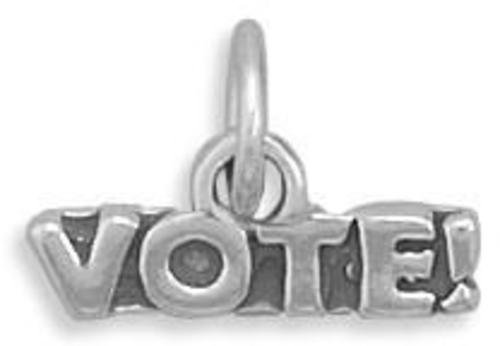 Vote Charm 925 Sterling Silver