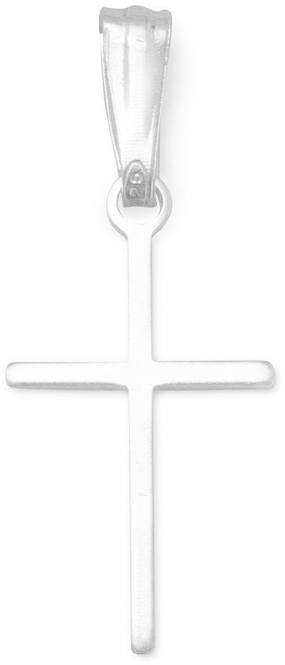 Extra Thin Cross Charm 925 Sterling Silver