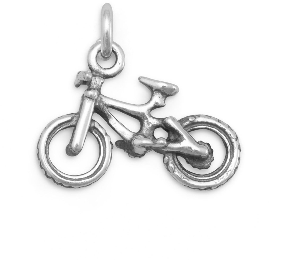 (C) Bicycle Charm 925 Sterling Silver