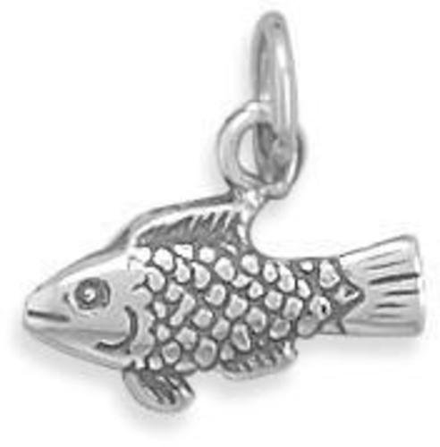(C) Fish Charm 925 Sterling Silver