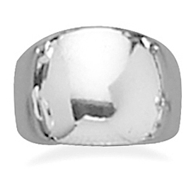 Polished Domed Cigar Band Ring 925 Sterling Silver