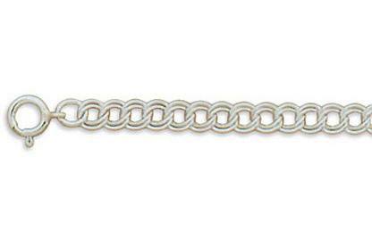 "8"" 5mm (1/5"") Charm Chain Light 925 Sterling Silver"