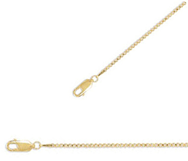 "30"" 1.5mm (0.06"") 14/20 Gold Fill Box Chain Necklace"