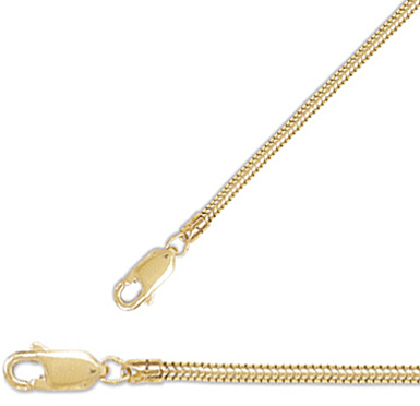"16"" 2mm (0.08"") 14/20 Gold Filled Snake Chain Necklace"