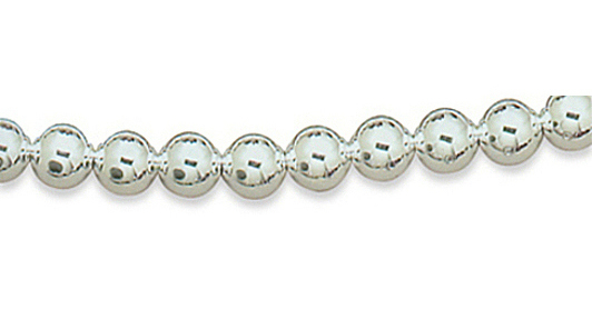 "24"" 10mm (3/8"") Sterling Silver Bead Necklace"