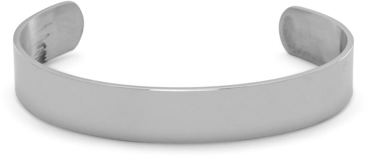 Stainless Steel Mens Polished Cuff Bracelet
