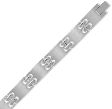 "8"" Stainless Steel Men's Link Bracelet"