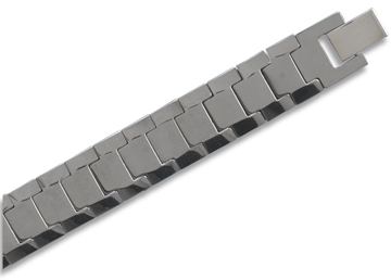 "8.5"" Mens Tungsten Carbide Link Bracelet - DISCONTINUED"