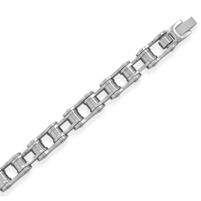 "8.75"" 316L stainless steel bicycle chain bracelet. - DISCONTINUED"