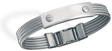 316L stainless steel cable ID bracelet.
